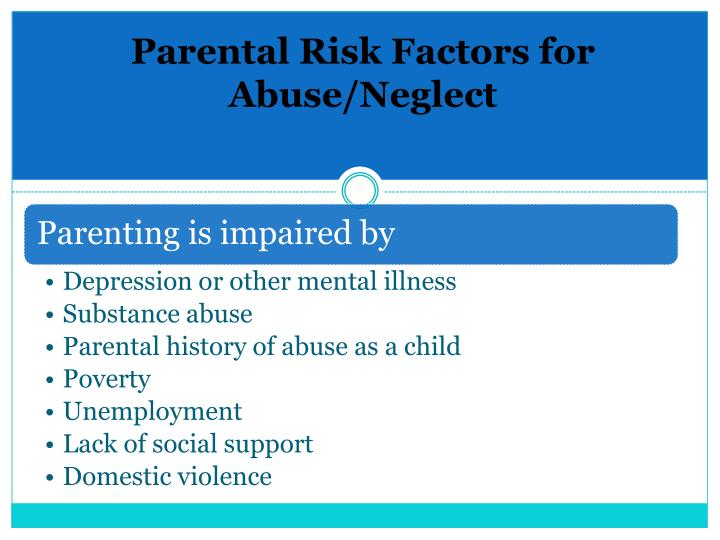 Parental Risk Factors for Abuse/Neglect