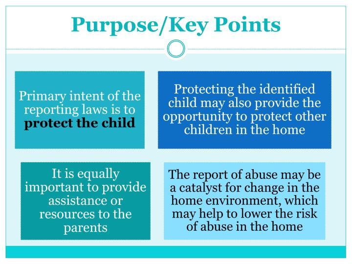 Purpose/Key Points