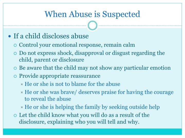 When Abuse is Suspected