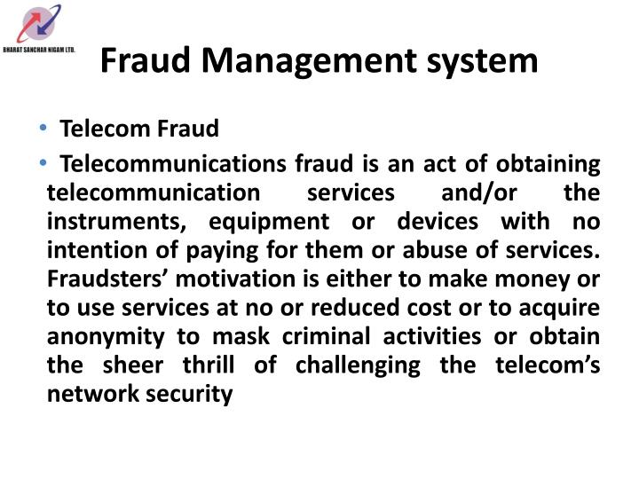 Fraud Management system