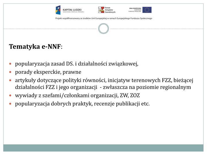 Tematyka e-NNF