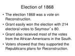 election of 18682