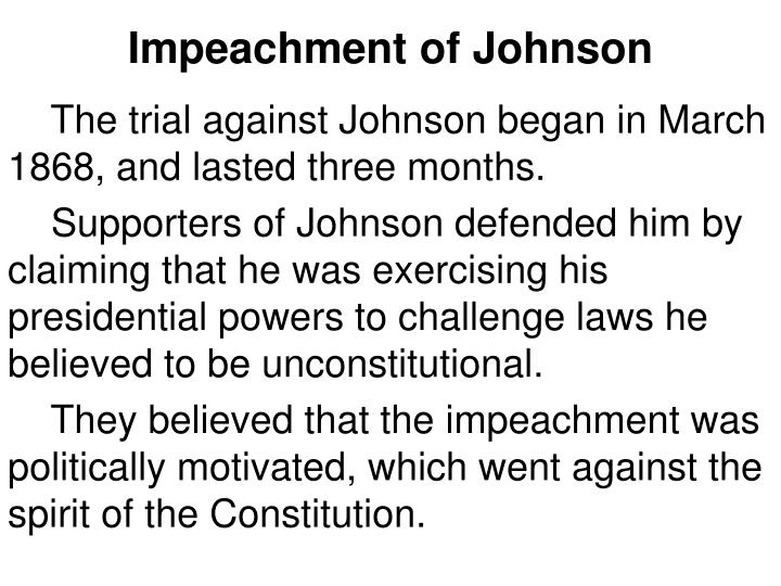 Impeachment of Johnson