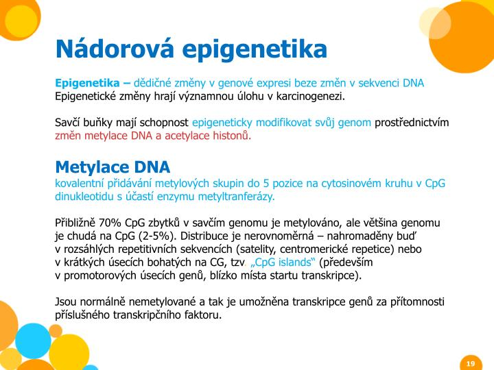 Nádorová epigenetika