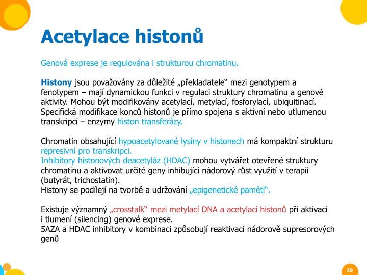 Acetylace histon