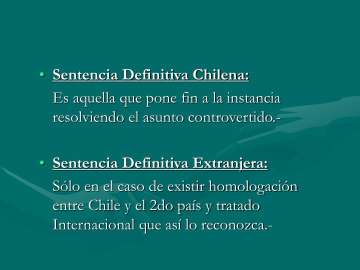 Sentencia Definitiva Chilena: