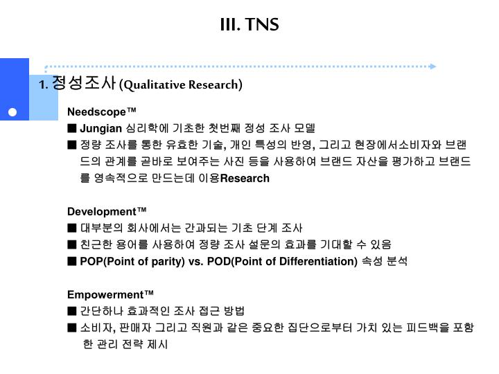III. TNS