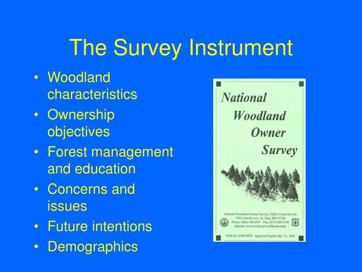 The Survey Instrument
