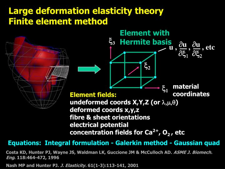 Large deformation elasticity theory