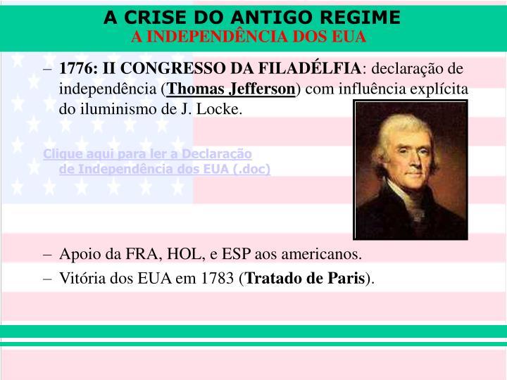 1776: II CONGRESSO DA FILADÉLFIA