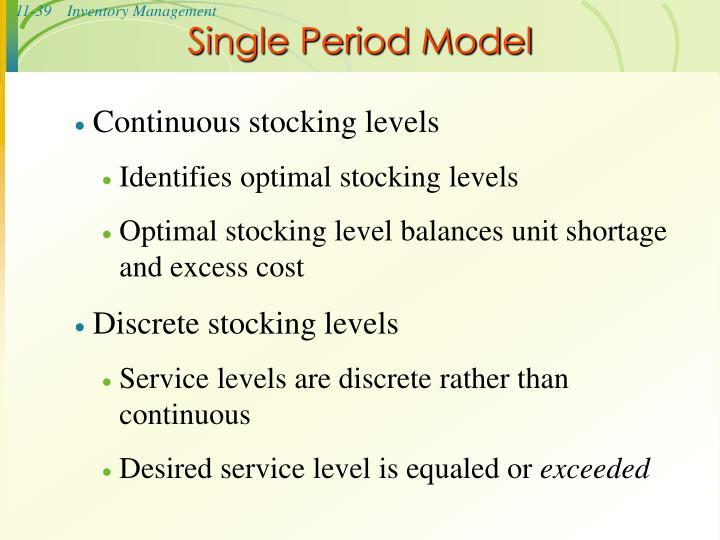 Single Period Model