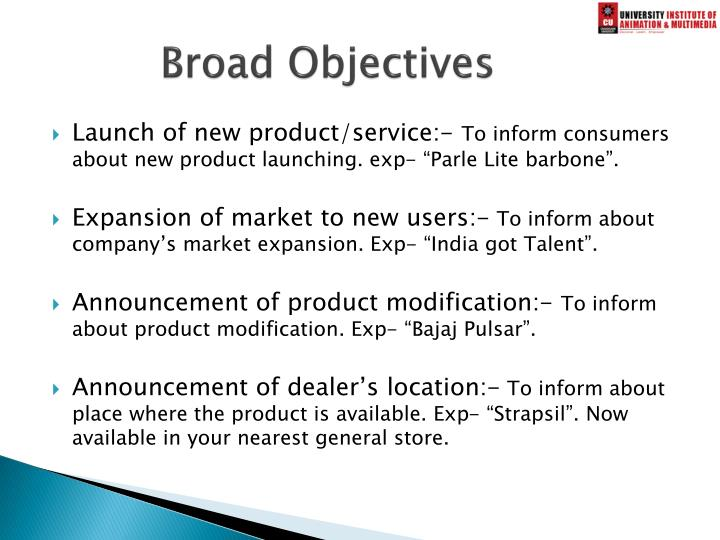 Broad Objectives