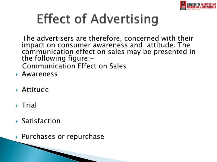 Effect of Advertising