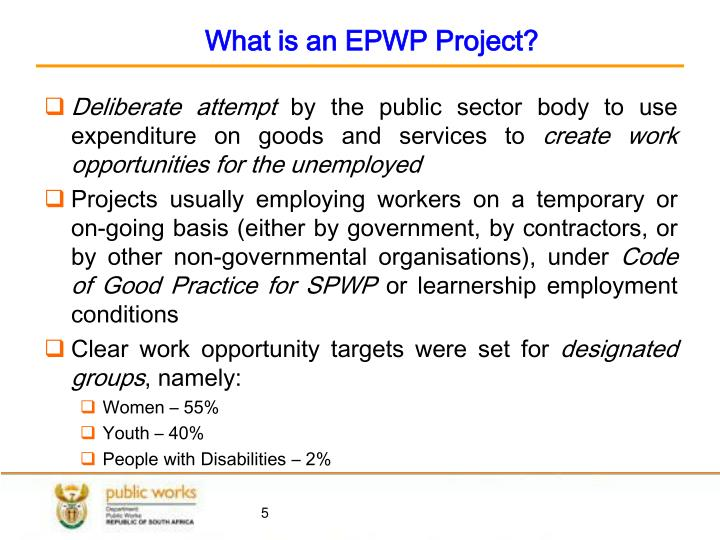 What is an EPWP Project?