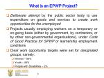 what is an epwp project