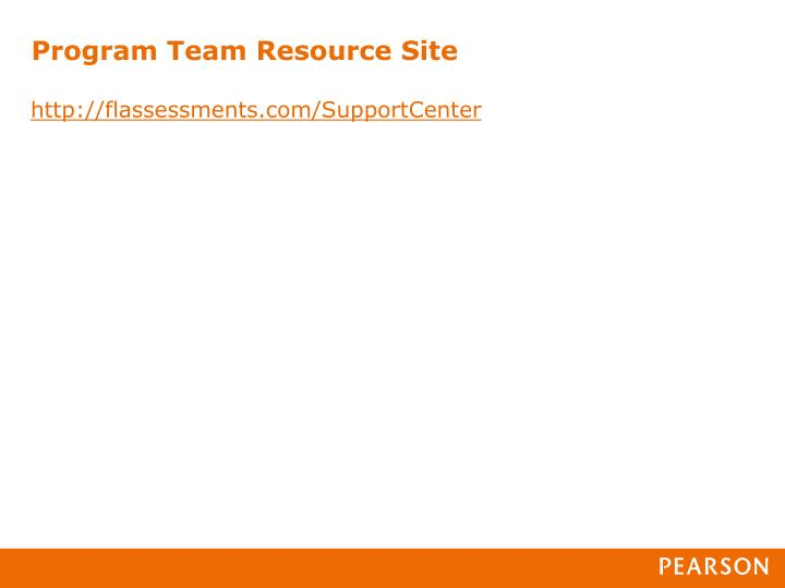 Program Team Resource Site