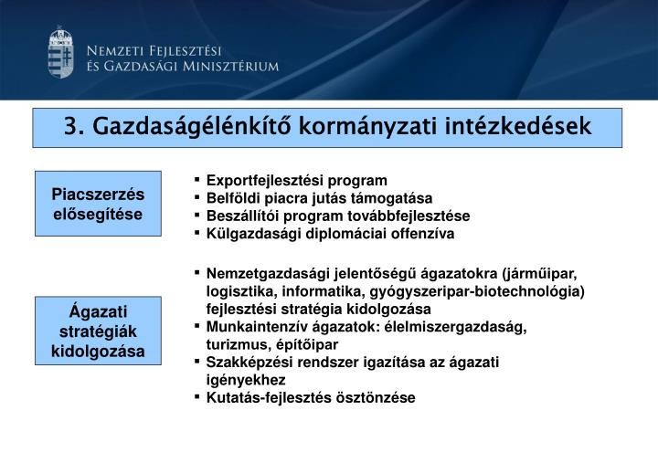 3.Gazdaságélénkítő kormányzati intézkedések