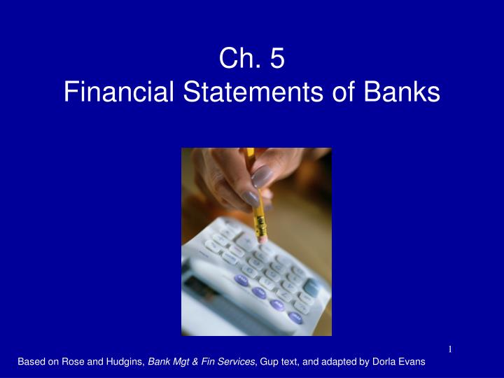 ch 5 financial statements of banks