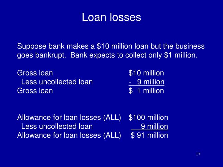 Loan losses