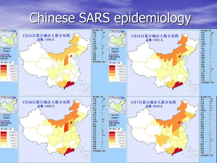 Chinese SARS epidemiology