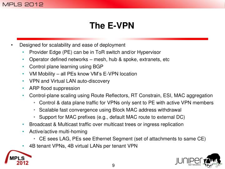 The E-VPN