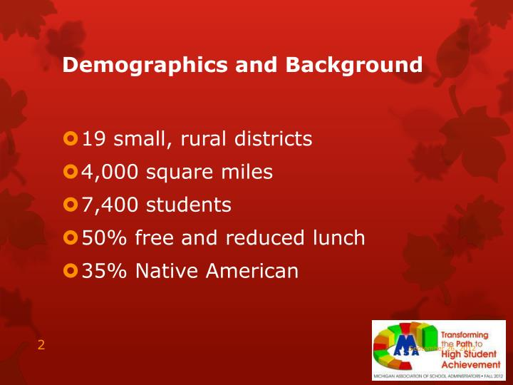 Demographics and background
