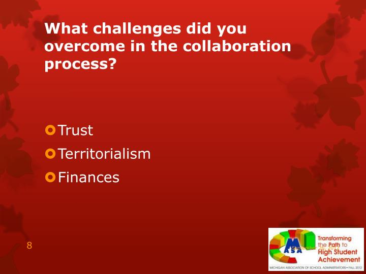 What challenges did you overcome in the collaboration process?