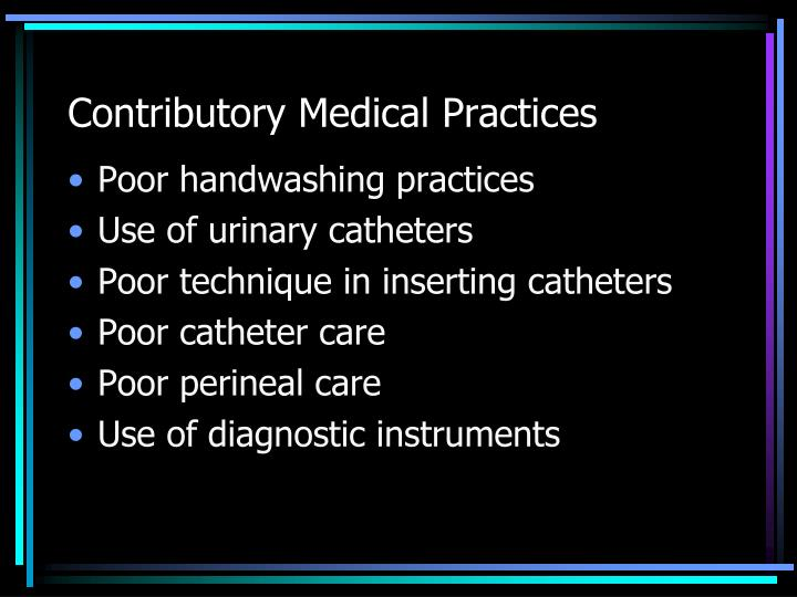Contributory Medical Practices