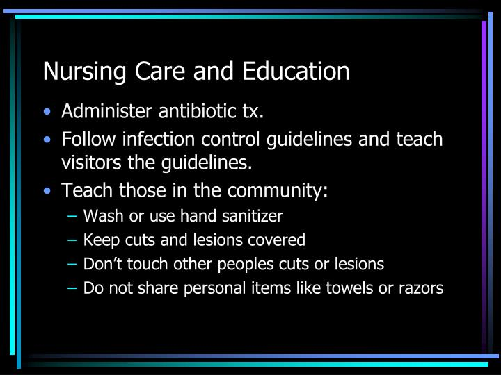 Nursing Care and Education