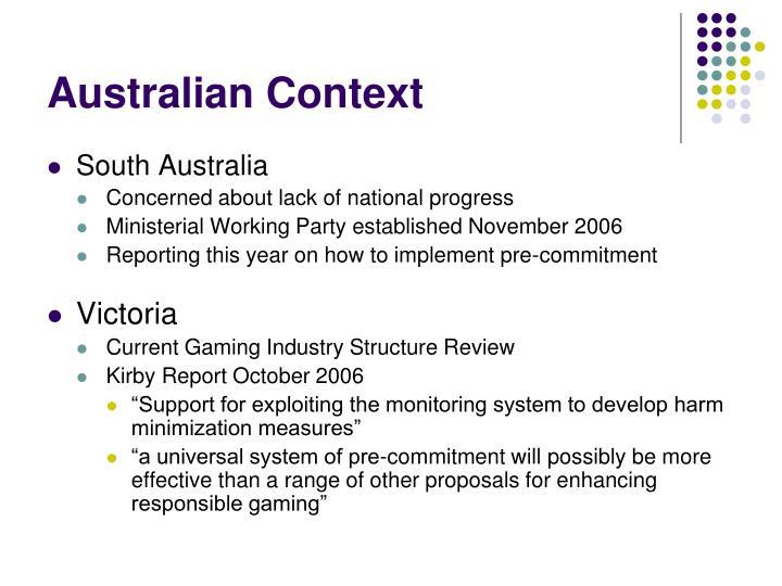Australian Context
