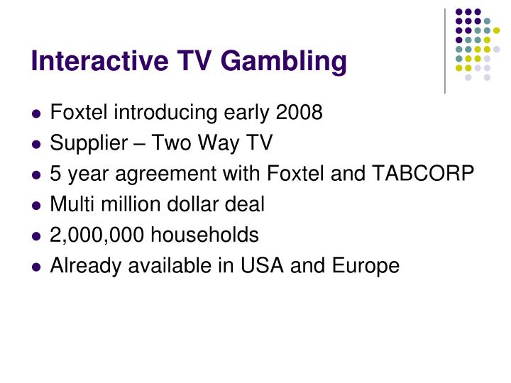 Interactive TV Gambling