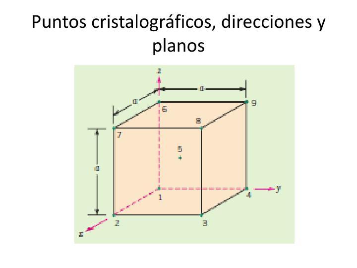 Puntos cristalográficos, direcciones y planos