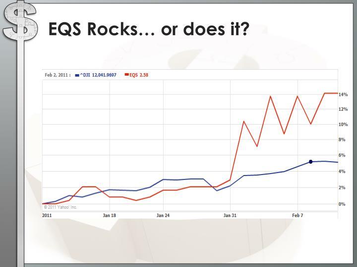 EQS Rocks… or does it?