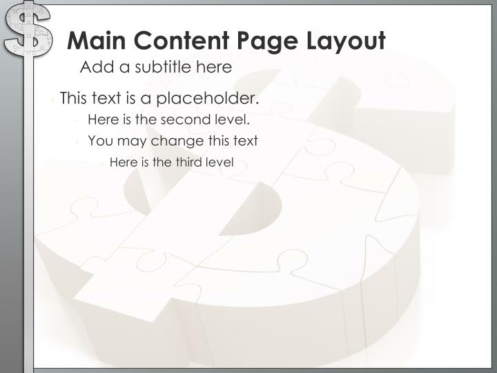 Main Content Page Layout