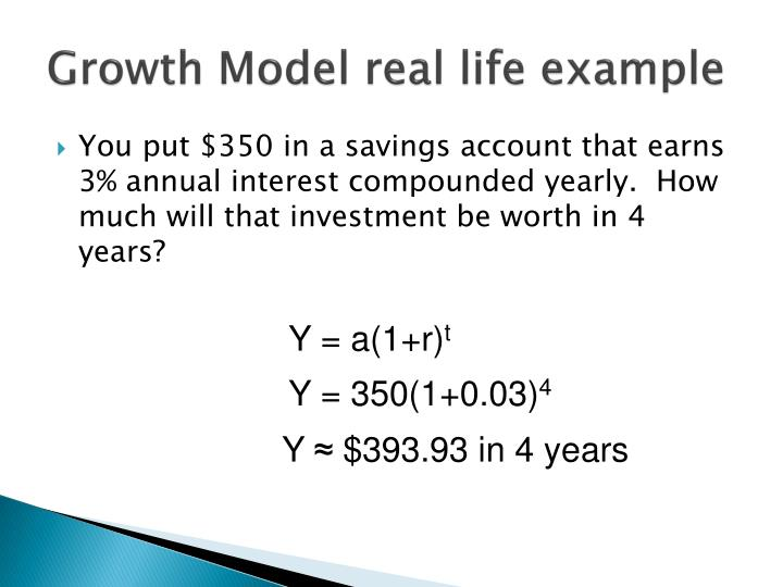 Growth Model real life example