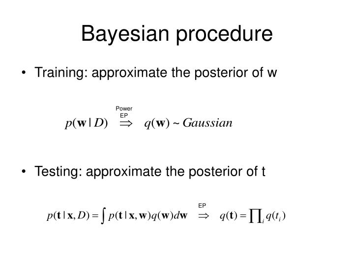 Bayesian procedure