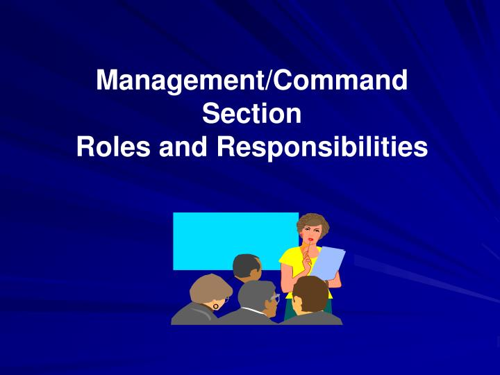 Management/Command Section