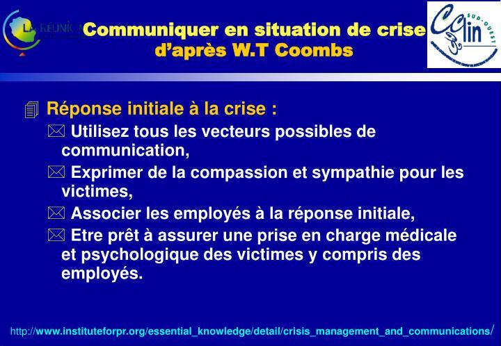 Communiquer en situation de crise