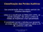 classifica o das perdas auditivas