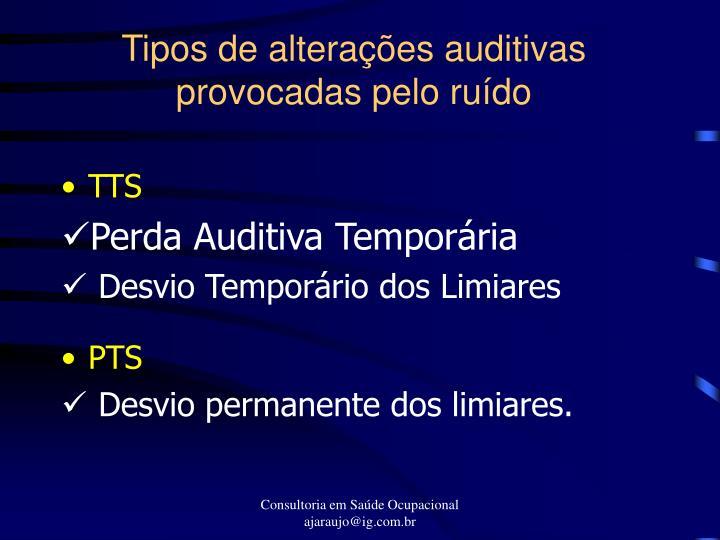 Tipos de alterações auditivas