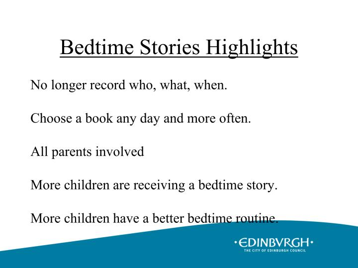 Bedtime Stories Highlights