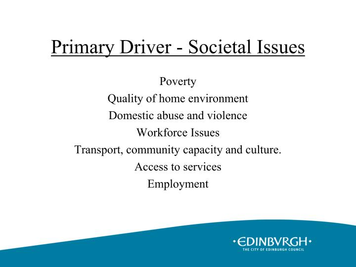 Primary Driver - Societal Issues