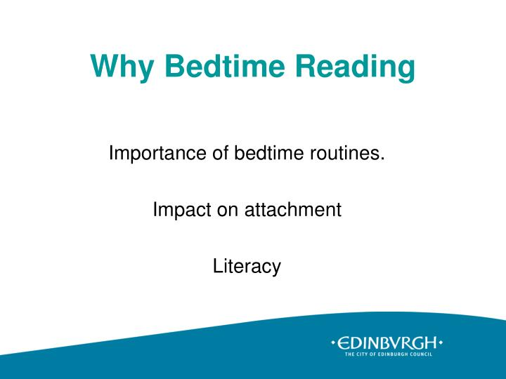 Why Bedtime Reading
