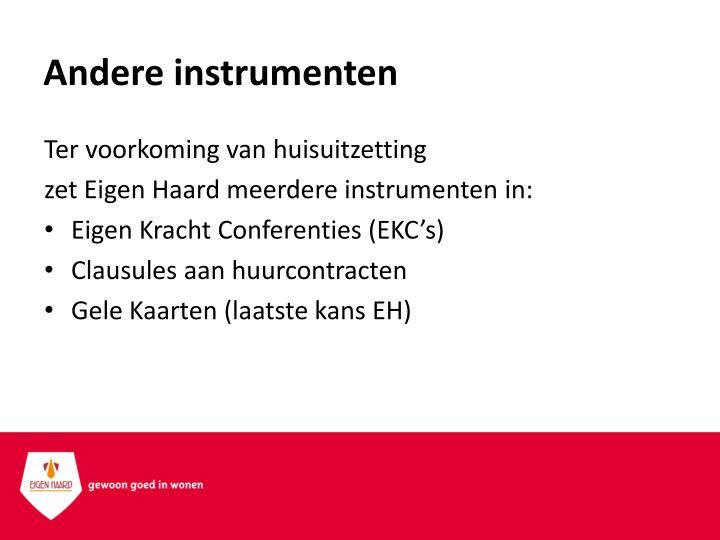Andere instrumenten