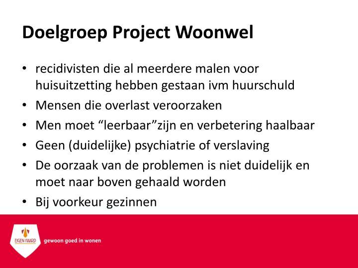 Doelgroep Project Woonwel