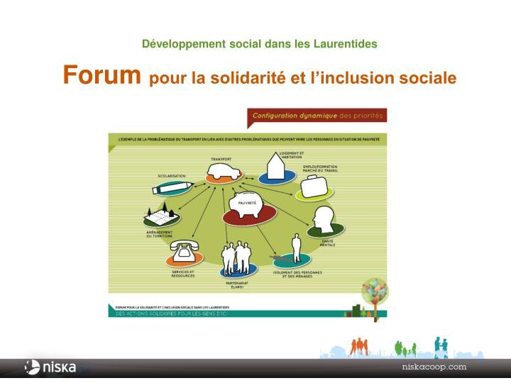 Développement social dans les Laurentides