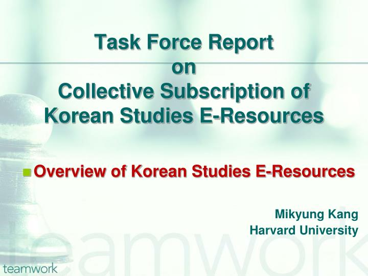 Task force report on collective subscription of korean studies e resources1