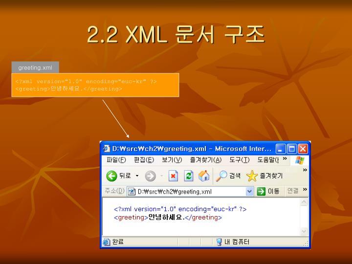 2.2 XML