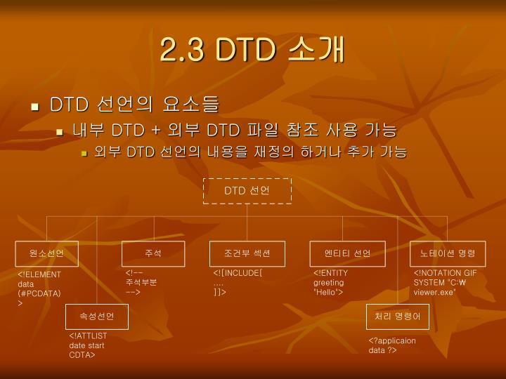2.3 DTD