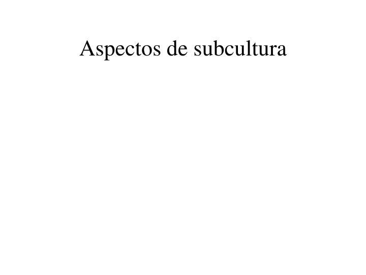 Aspectos de subcultura